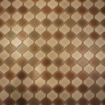 洗面の床もレトロチック