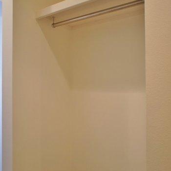 玄関にクローゼットがあります