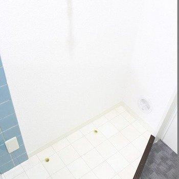 タイル調が可愛いですね。※写真は1階の同間取り別部屋のものです。