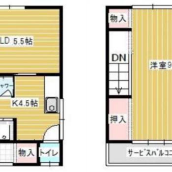 一戸建てです!! 2つの階が使えます!!