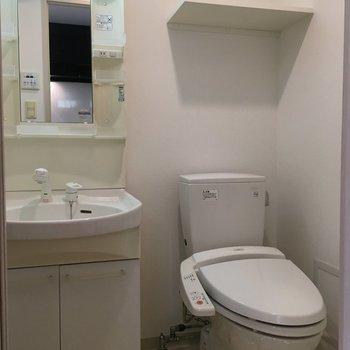 サニタリー、トイレと洗面台は同室