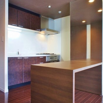 見事なキッチンスペース