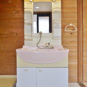 洗面台はシンプルで!。※写真は、前回撮影時のもの