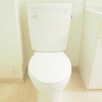 洗面台とトイレの仕切りはありません…