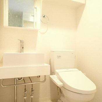 トイレと洗面台は同じ空間です!