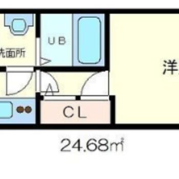 シンプルな1Kのお部屋