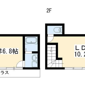 2階建てです〜!