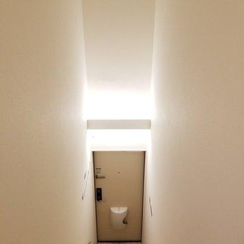 どこぞの教会のような玄関。※写真は2階の反転間取り別部屋のものです