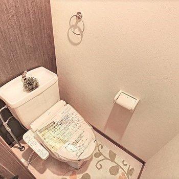 トイレはウォシュレット付きです。(※写真の小物は見本です)