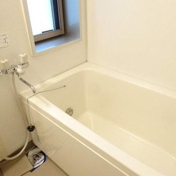 ゆったりめの浴槽。