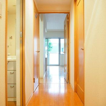 玄関からリビングを見ると、、※写真は前回募集時のものです