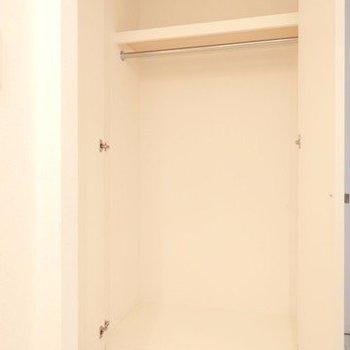 収納はひとり暮らしサイズ。写真は別部屋です