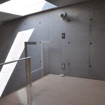 天窓のあるロフト部分※画像は別室です