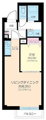 FIRST HOUSE AZUMABASHI の間取り