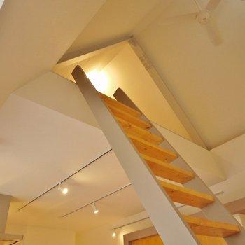 このはしごを上がると~…