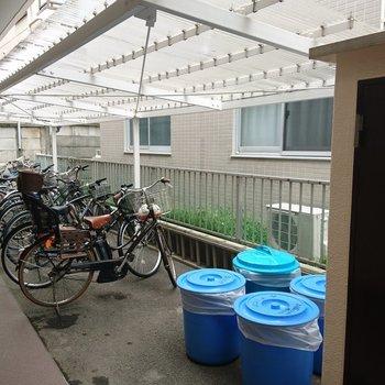 駐輪場やゴミ置き場も!