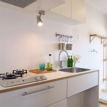 キッチンはTOMOS2口ガスです!※写真はイメージです