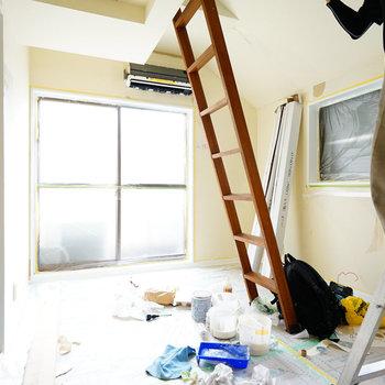 壁の塗装が始まりました!※写真は工事中です