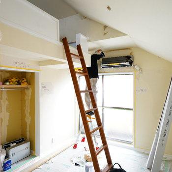 天井も高くて開放的◎※写真は工事中です