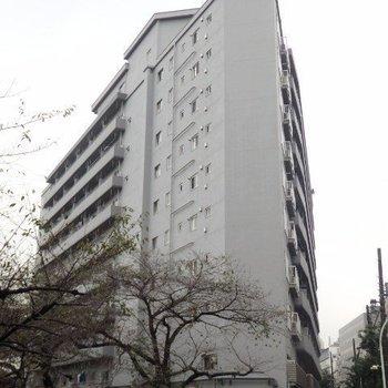 目黒川沿いの大きなマンション!