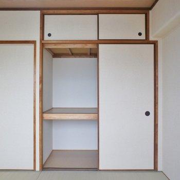 和室にもちゃんと収納が。