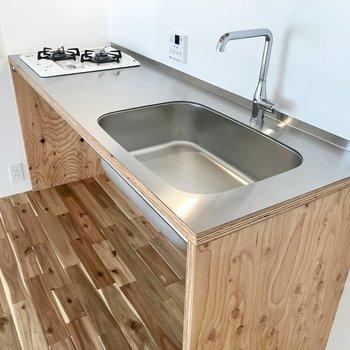 すっきりとしたキッチン。デザイン◎