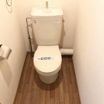 トイレにはポスター貼りたいな!(※写真は5階の同間取り別部屋のものです)