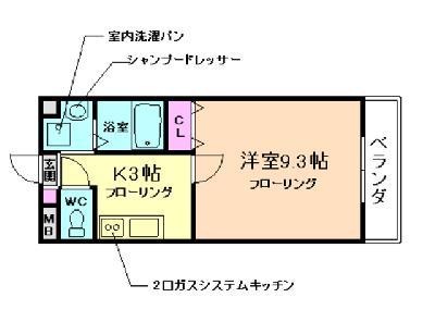 アネックス桜の町B棟の間取り図