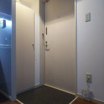 玄関も窮屈感を感じさせないサイズのスペースがあります。