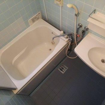 浴槽も大きめで助かります。