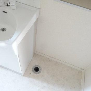 洗濯機は洗面台のお隣に。