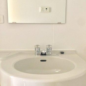 洗面台はコンパクトに