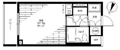 コスモリード駒沢大学 の間取り