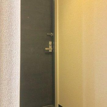 玄関ドアはこんな感じ。正面には・・・