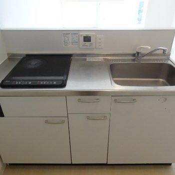 キッチンは二口でIH※写真は別部屋です、間取り図をご確認下さい。