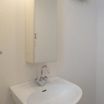 独立洗面台付いてますよ※写真は別部屋です、間取り図をご確認下さい。