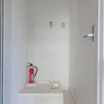 洗濯機ももちろん、室内置き。 ※前回募集時の室内写真となります