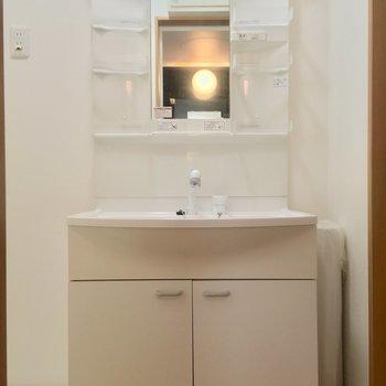独立洗面台が大きくて羨ましいよ…!※写真は前回募集時のものです