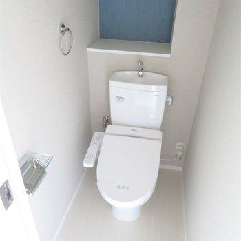 落ち着く空間になりそうなトイレ(※写真は7階の同間取り別部屋のものです)