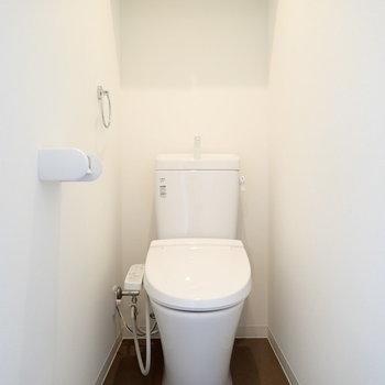 トイレの形が綺麗…!