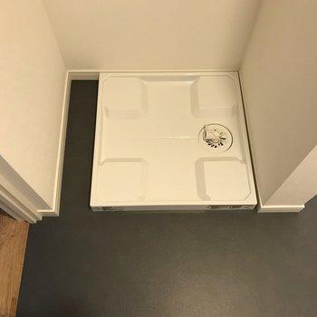 洗濯機置き場もしっかり。※写真は前回募集時のものです