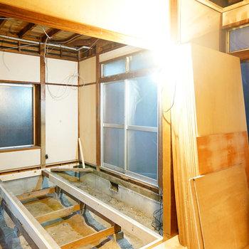 3面窓の広い空間!※写真は工事中です