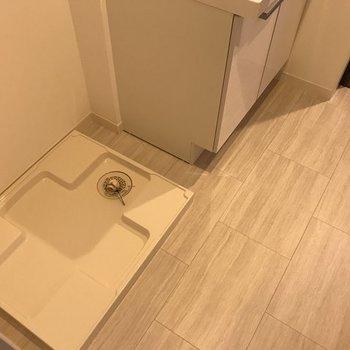 隣に洗濯機置場。※写真は同じ間取りの別部屋
