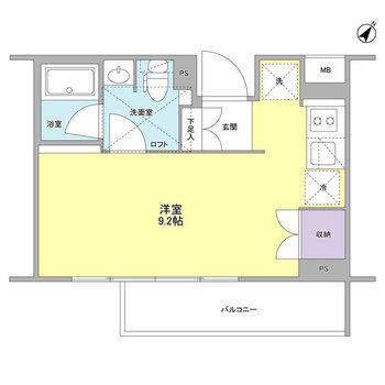 居室9.2畳の広々デザイナーズ◎