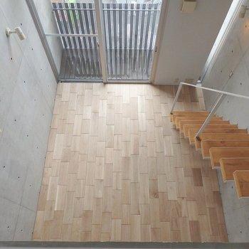 上からお部屋を見るとこんな感じ。