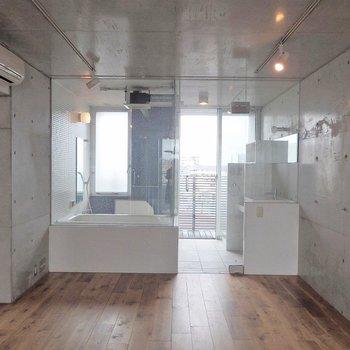 うっとりするようなバスルーム。