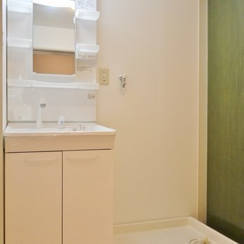 ゆったりサイズの洗面所。※写真は別部屋になります。