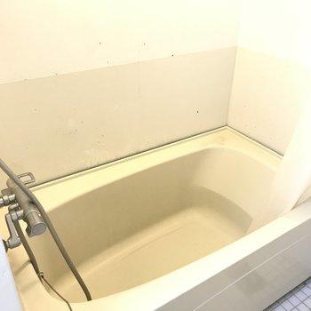 浴槽は簡素。
