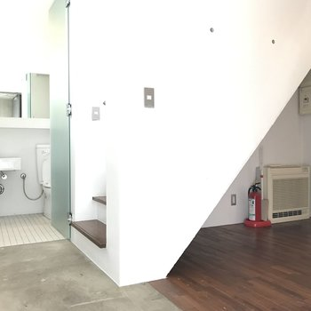 1Fの居室部分。右のお部屋は5.4帖です