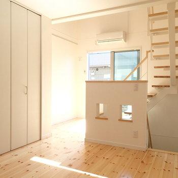 続いて2階。こちらも心地よさそうな空間!